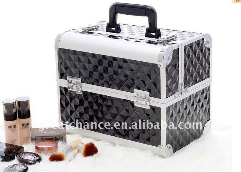 profesional de la belleza de aluminio cosméticos estuche de maquillaje de la caja