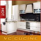 European style modular PVC kitchen cabinets antique white
