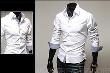 2013 spring and autumn casual men's long-sleeved shirts turn down collar slim fit fashion shirt men 9022(China (Mainland))