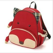 Children School Bag Cartoon Animal Canvas Backpack Baby Toddler Kids Shoulder Kindergarten Schoolbag(China (Mainland))
