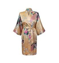2014 NEW Chinese Women's Silk Rayon Robe Kimono Bath Gown Nightgown S M L XL XXL XXXL Free Shipping(China (Mainland))