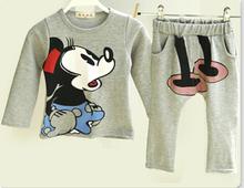 2014 children clothing set baby set  cartoon Full suit children' clothing boys baby kids children set(China (Mainland))