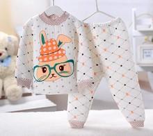 hot selling set new 2015 brand babys cotton sleepwear boys pyjamas girls cartoon clothing kids pajama 2 pcs set  free ship(China (Mainland))