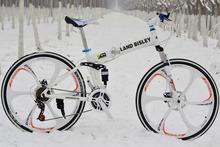 "16 Styles 26"" Folding Mountain Bike or road bike  Full Shocking Proof Coolest Folding  Mountain Bicycle drop shipping(China (Mainland))"