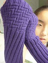 2014 New Diagonal Stripes Women Winter Long Gloves Keep Warmer Half Fingerie Gloves Kint Arm Warmers Free Shipping A-46(China (Mainland))