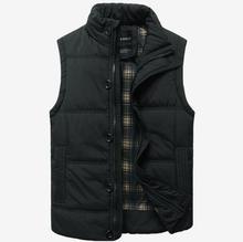 Autumn Winter Fashion Casual Tank Top Men Stand Collar Cotton-padded Thickening Slim Fitness Sleeveless Men's Vest Waistcoat(China (Mainland))