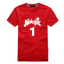 new men Magic 1 logo basketball t-shirt jersey male Tshirt sports football skateball 6XL 5XL 4XL plus size loose tops tee sports(China (Mainland))
