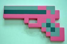 2Pcs/Lot 2014 Newest Design Game Toy Diamond Sword Minecraft Foam Mosaic Sword/Pickaxe/Hamaxe Free Shipping 500(China (Mainland))