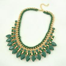 2015 New Fashion Jewelry Gothic Bohemia Choker Collar Gold Pendant Full Rhinestone Necklace For Women Free Shipping(China (Mainland))