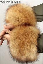Arm Warmers Fox fur Winter  Women  leather grass  wool wrist  Female  cuff  Wrist Cuff(China (Mainland))
