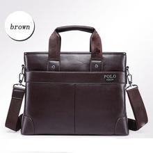 2015 Leather Briefcase Men Bag Genuine Leather Bag Soft Fashion Sacoche Homme Messenger Bag Portfolio Men Business Laptop Bags(China (Mainland))