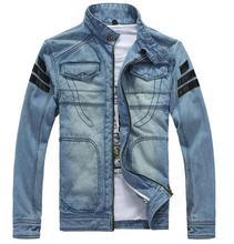 Autumn New Fashion tide European Men's Slim Hoodies Long Sleeve Casual Denim jacket Size:M-3XL(China (Mainland))