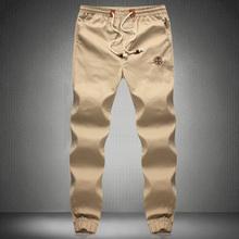 New Fashion Plus Size Men Pants Fit Cotton jogger pants Mid Rise Leisure Sweatpants Men's Trousers Sport Pants M~5XL khaki cargo(China (Mainland))