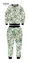 [Magic] Hot Men's sets 3d sweatshirts/pants 100pints/Animal/Skull/Face emoji 3D sweatshirt set men 21models size S-XL free ship(China (Mainland))