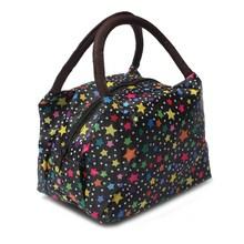 2015 Flower Bike Dot Pattern Waterproof Women Lunch Bag Pincnic Handbag Carrying Tote (China (Mainland))