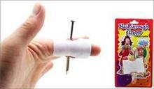 Hot sale Prank Fake Nail Through Finger Trick Magic Props April Fool Halloween Party Toy Fun Toys Drop Shipping(China (Mainland))