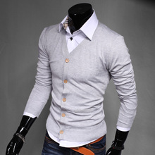 Free shipping 2015 hot sale  comfortable wear men's sweater Solid  Stylish slim fit sweater asian size M-XXL 8 color UW302(China (Mainland))