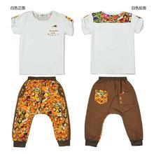 Summer fashion new baby boy clothing set short shirt and animation pants kids clothes conjunto menino cotton boys tracksuit(China (Mainland))