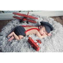 New Handmade Infant Baby Knit Costume Beanies Newborn Photography Prop Crochet Shirt Baby Hat Cap Set Baby Accessories Wholesale(China (Mainland))