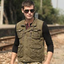Mens Casual outdoor vest military vest zipper jacket  K4872(China (Mainland))