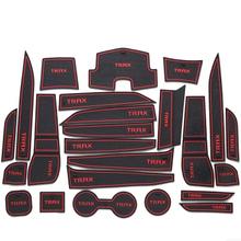 Car anti slip mat gate slot door pad carpets Interior decoration accessories,suitable for Chevrolet TRAX(China (Mainland))
