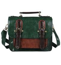 New 2015 Men Leather Briefcase Bags Business Briefcase Handbag Men's Travel Bags Retro Briefcase Brown(China (Mainland))