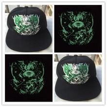 2015 New Fashion Man / women Luminous baseball caps Personality Fluorescence Hip-hop hat snapback Hot sell Free shipping(China (Mainland))
