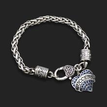 Hot Sale Vintage Lady Bracelets With Success Heart Pendant 10pcs FB058(China (Mainland))
