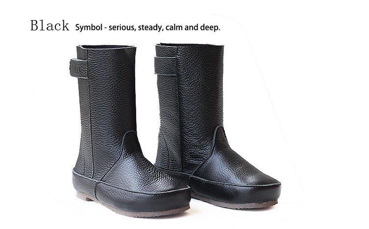Цвет: черные ботинки хлопка