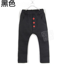 2015 autumn 3 buckle boys clothing girls clothing baby child pants casual pants A0660(China (Mainland))