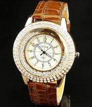 women watch Quartz wristwatches Gogoey Brand Luxury Leather Watches Ladies Casual fashion Dress gold Watch relogios femininos(China (Mainland))