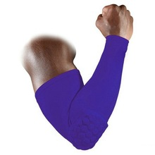 2014 New Hex Pad Extended Long Arm Elbow Max.Protection Pro-Level Sports Care Gym Support Basketball Sleeve S/M/LFree Shipping(China (Mainland))