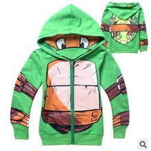 Best sales 2015 New Children's Spring/Autumn cotton coat Boy sweatshirt Kids clothes Teenage Mutant Ninja Turtles Boy jacket(China (Mainland))
