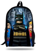 16-inch Mochila Batman Bags For School Boys Batman Backpack Cool Kids School Bags For Teenagers Children Backpacks Online.(China (Mainland))