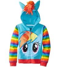 2015 Retail Children Clothing Cartoon Rabbit Fleece Outerwear girl fashion clothes/hooded jacket/Winter Coat roupa infantil(China (Mainland))