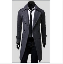 New Double-Breasted Long Wool Mens Trench Coat Outdoor Jacket Manteau Homme Cloak Male Overcoat Casaco Masculino Suit ZL552(China (Mainland))