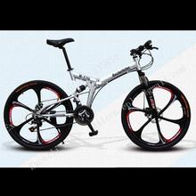 "21 Speeds 26"" Folding Cycling Full Suspension Aluminium Alloy Fork Streamlined Wheels Soft-tail Frame Bicicleta Mountain Bike 26(China (Mainland))"