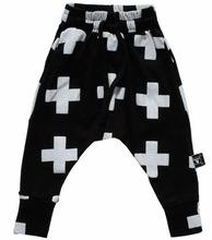 2015 New fashion kids Harem Pants,100%Cotton and high quality,nununu cross printed star Harem Pants for children,kid(China (Mainland))