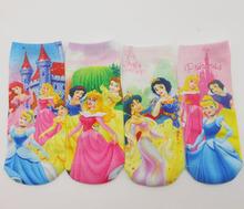 "12pairs/lot length18cm,7"" New kitty/mickie Cute Cartoon Frozen girls boys Baby children's print ankle Normal Sneaker sock/socks(China (Mainland))"