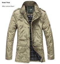 2014 Mens Jacket free shipping men coat waterproof brand new winter jacket men trench large size 5XL Coat Slim Fall Outerwear(China (Mainland))