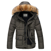 Highest quality!Men 's down jackets 2014 winter new fashion fur collar coats,overcoat,outwear,parka,trench 7colors M-XXXL MDP002(China (Mainland))