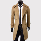 2013 Fashion Stylish Men's Trench Coat, Winter Jacket ,Double Breasted Coat ,Overcoat woolen Outerwear L