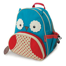 HOT!Children School Bag Cartoon Animal Canvas Backpack Baby Toddler Kids Leather Shoulder Kindergarten Schoolbag wholesale(China (Mainland))