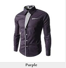 2014 New Dress Fashion Quality Long Sleeve Shirt Men.Korean Slim Design,Formal Casual Male Dress Shirt.13 colors.M-XXXXL.8012(China (Mainland))