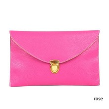 Lowest price in AliExpres 2013 promotion envelope lady clutches bags,leather shoulder bags woman,bags for Women Hot Products(China (Mainland))