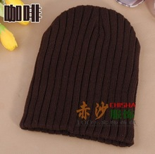 Fashion Knitted hat male bars autumn and winter knitted hat beckham fashion man fashion accessories colorful new color(China (Mainland))