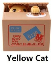 Free Shipping 1Piece Japan Itazura Bank Pet Coin Box Crafty Cat Stealing Money Cat Coin bank Cat Money Box(China (Mainland))
