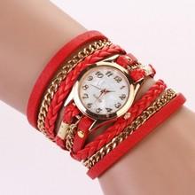 2014 New Arrival Hot Fashion Dress Wristwatch Women/Lady Watches Retro Synthetic Leather Strap Bracelet Watch b4 SV004345(China (Mainland))