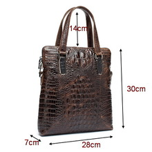 Genuine leather men briefcase Bags 14 inch men's travel bags shoulder  tote bag business laptop handbags portfolio male 2015(China (Mainland))