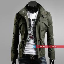 2014 Men's Fashion Brand Clothing ,Army Design Casual Men's Zipper Jackets,Autumn Quality Men's Slim Fit Coats (China (Mainland))